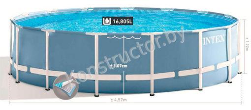 intex 28276 prism frame pools 457x122. Black Bedroom Furniture Sets. Home Design Ideas