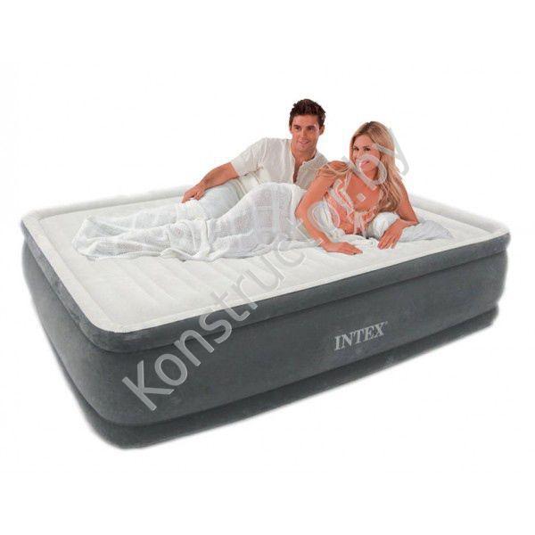 Двуспальный надувной матрас velvet bed, intex - 67796 азбука ремонта раскладушка с матрацом ижевск