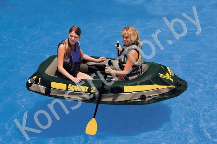 лодка с мотором для двоих