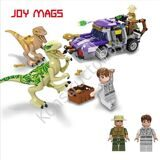 JOY-MAGS-8003-Building-Blocks-Bricks-Model-Collection-Gift-Dinosaur-Risk-with-Car-New-Year-Gift