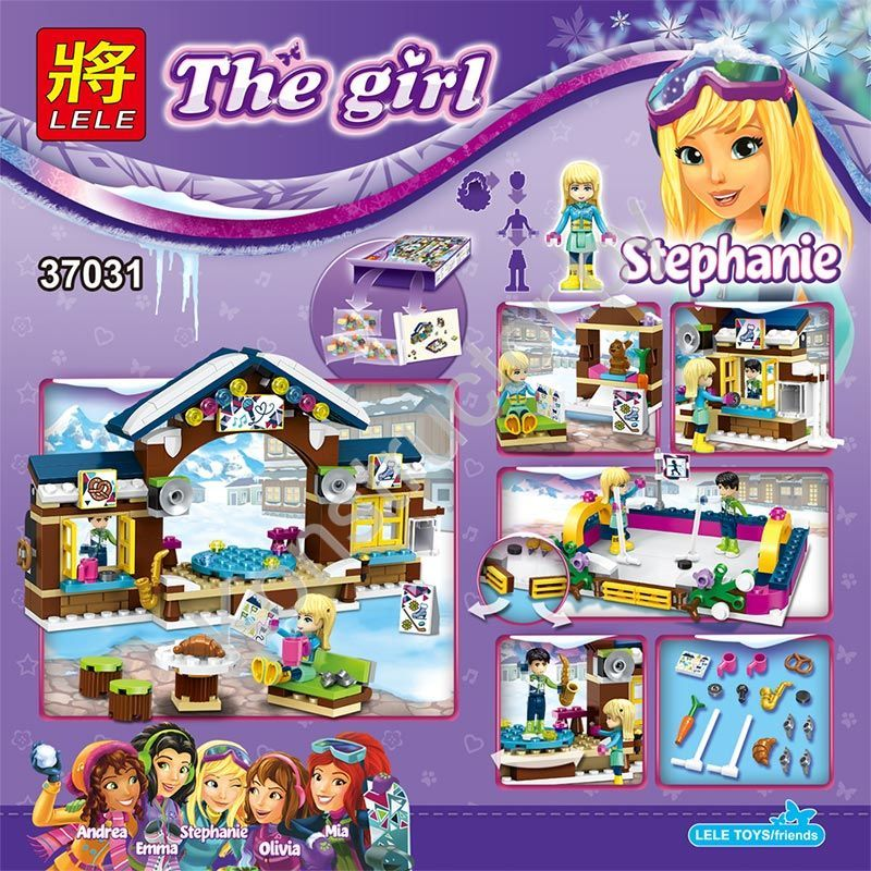 LELE-Toys-The-girl-Friends-Date-Stephanie-Building-Blocks-Ski-Resort-Ice-Rink-Enlightenment-Educational-toys