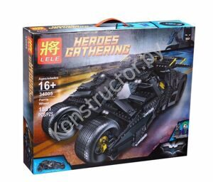 Конструктор Lele 34005 The Tumbler Batman Batmobile серия Супер Герои Бэтмен 1881 дет, аналог Лего (LEGO) Super Heroes 76023
