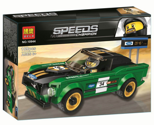 Конструктор Speeds Champion 1968 Ford Mustang Fastback, Bela 10944 аналог Lego 75884