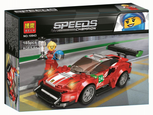 "Speeds Champion Феррари 488 GT3 ""Scuderia Corsa"", Bela 10943 аналог Lego 75886"
