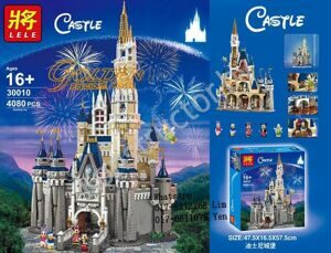 Конструктор Disney Сказочный замок Disney 30010, 4080 дет, 5 минифигурок, аналог LEGO Disney Princess 71040
