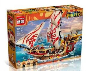 Конструктор Brick 1311 Legendary Pirates Корабль, 368 дет, аналог Лего