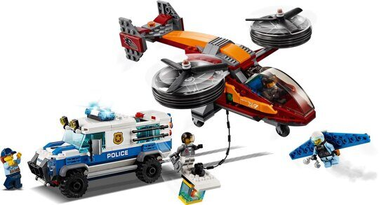Конструктор Воздушная полиция: Кража бриллиантов, свет, LARI 11209 аналог LEGO City 60209