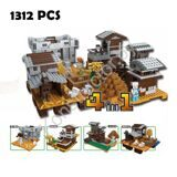 Compatible-with-lego-Models-building-toy-ZB363-1312PCS-4in1-My-World-Sunset-Manor-Villa-Building-Blocks