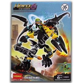 Конструктор Decool 10504 Hero 6 Star Soldier Летун против Бриз аналог Лего (LEGO) 44020