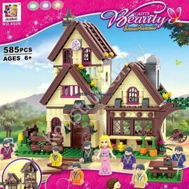 Конструктор Bela Disney Princess 6026 Белоснежка и 7 гномов, 585 дет, 8 минифигурок, аналог LEGO Disney Princess